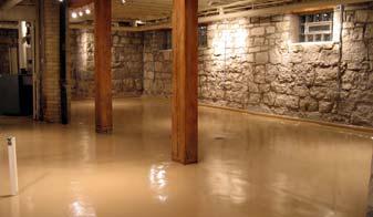 how to paint a concrete basement floor