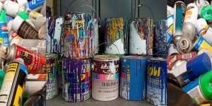 dispose of paint cans