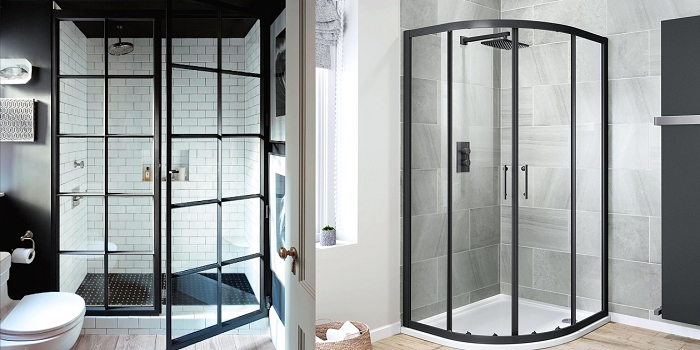 shower door frame metal