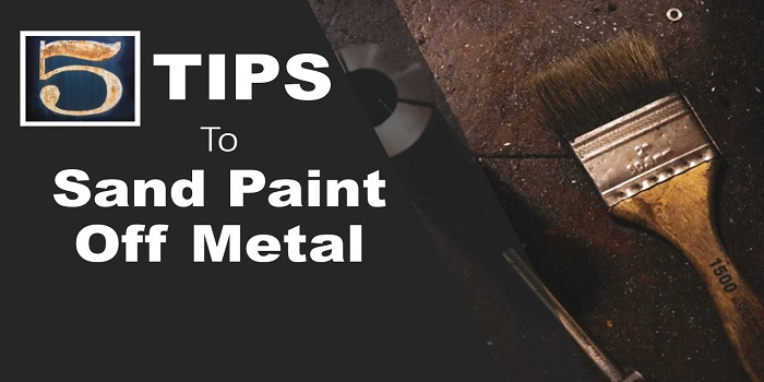 sand paint off metal