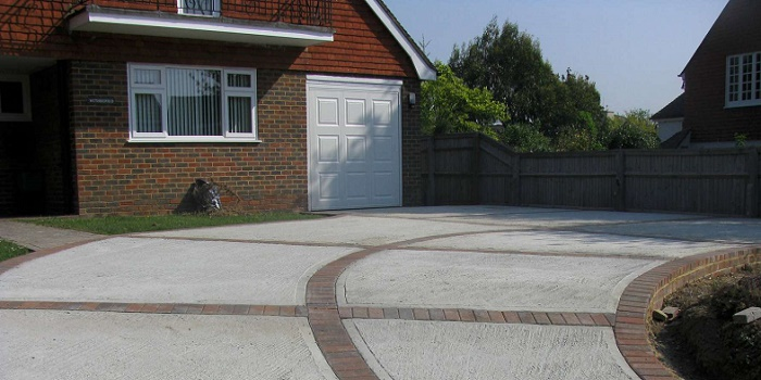 Stain or Paint Concrete Driveway