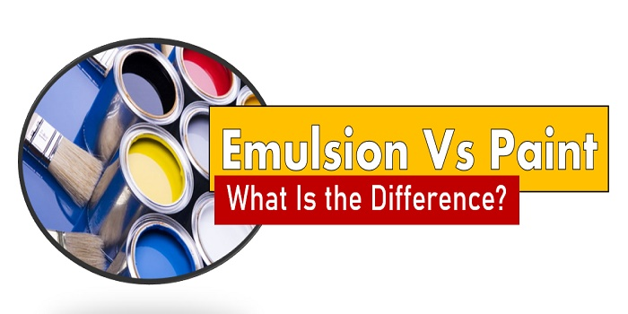 Difference Between Emulsion and Paint