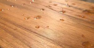 paint wet wood