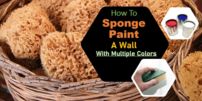 how to sponge paint a wall with multiple colors