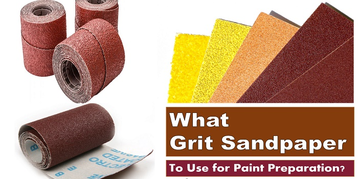 what grit sandpaper to prep for paint
