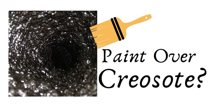 can you paint over creosote
