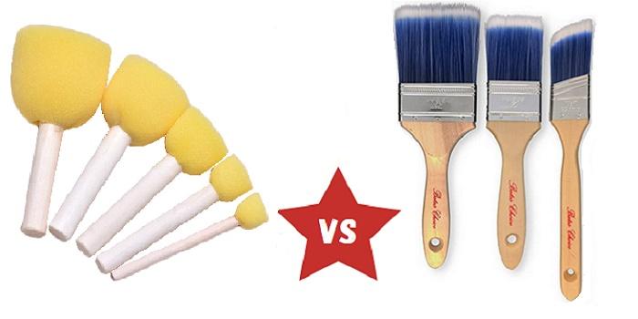 foam vs bristle brush difference