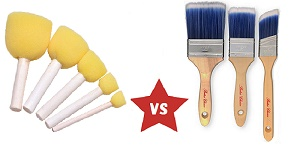 foam vs bristle brushes