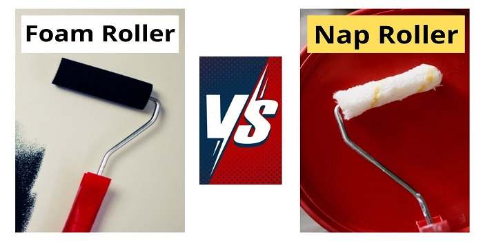 Foam paint roller vs nap roller
