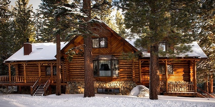 how to stain a log cabin