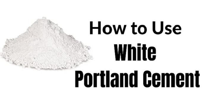 how to use white portland cement
