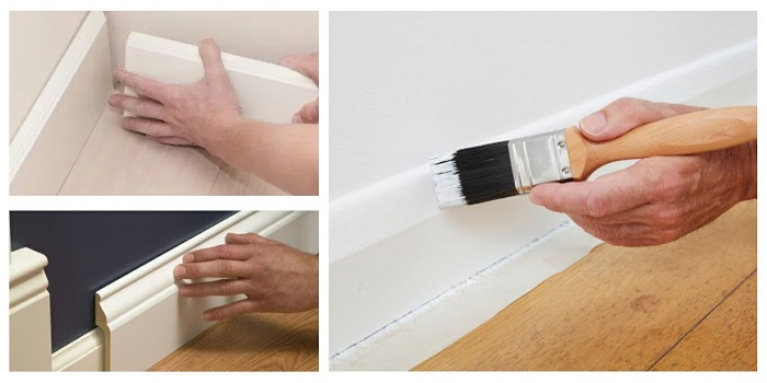 do you need to remove baseboards to paint