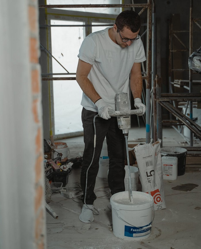 how to use paint mixer drill