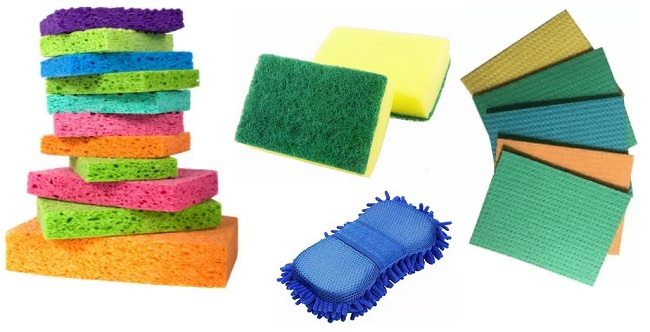 cleaning sponge different types